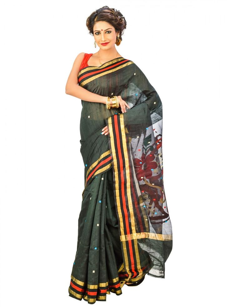 Blue Color Cotton Saree - Online shopping to buy blue color bengal Handloom cotton saree and unstitched matching blouse piece with handloom mark in india. Wear dynamic and young style gorgeous designer saree to impress from Indian. Each saree has its own unique look.