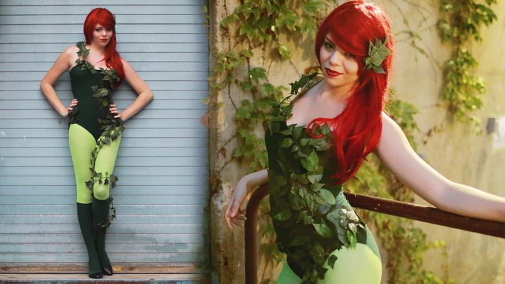 Poison Ivy from Batman costume DIY, Video tutorial by TheSorryGirls http://www.youtube.com/watch?v=klO9P2xlHyU