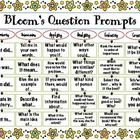Free! Blooms ? Prompts.... top-down web listing question prompts for each of the six levels of Bloom's: Remember, Understanding, Applying, Analyzing, Evaluating, an...