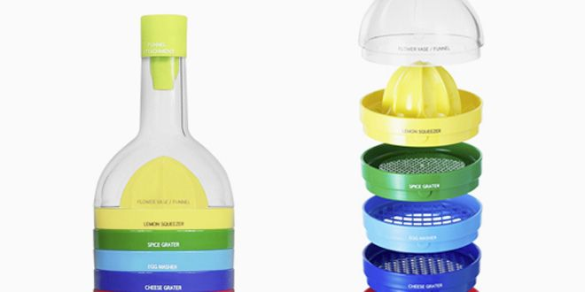 A Bottle That Ingeniously Stacks 9 Cooking Tools | Gadget Lab | Wired.com