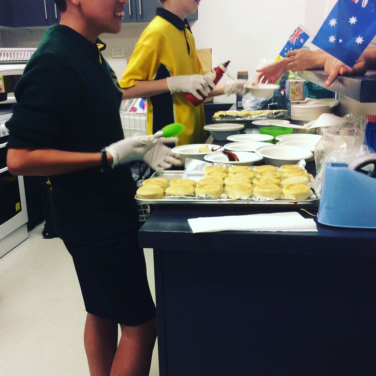 Yum serving up Aussie food in our Youth Spaces. Tomato sauce anyone?