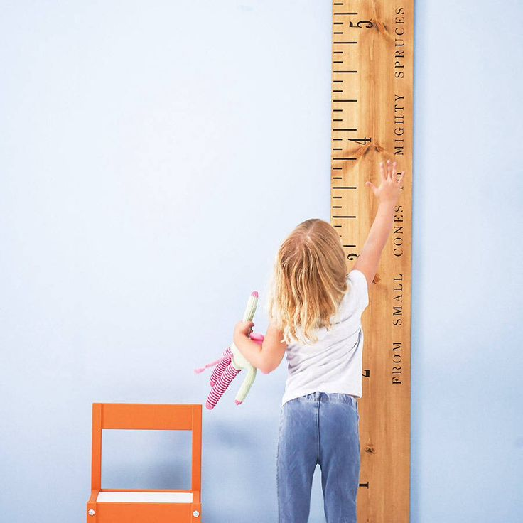 I've just found Personalised 'Kids Rule' Wooden Ruler Height Chart. The 'Kids Rule' wooden ruler height chart is a handmade, personalised wooden growth chart, designed as a giant vintage wooden ruler by Lovestruck Interiors.. £140.00
