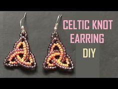 Beaded Celtic Knot Earring with Herringbone Stitch - YouTube