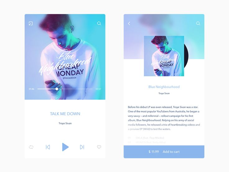 Music player / album