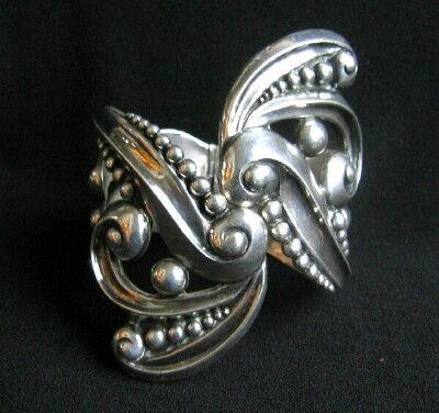 Bracelet | Los Castillo. Sterling silver.  ca. 1950's