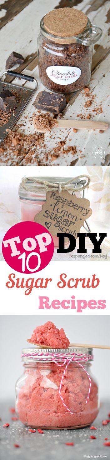 DIY Sugar Scrub Recipes that are amazing! Cute ideas for gifts, teachers, etc. Yummy DIY sugar scrubs you will love.
