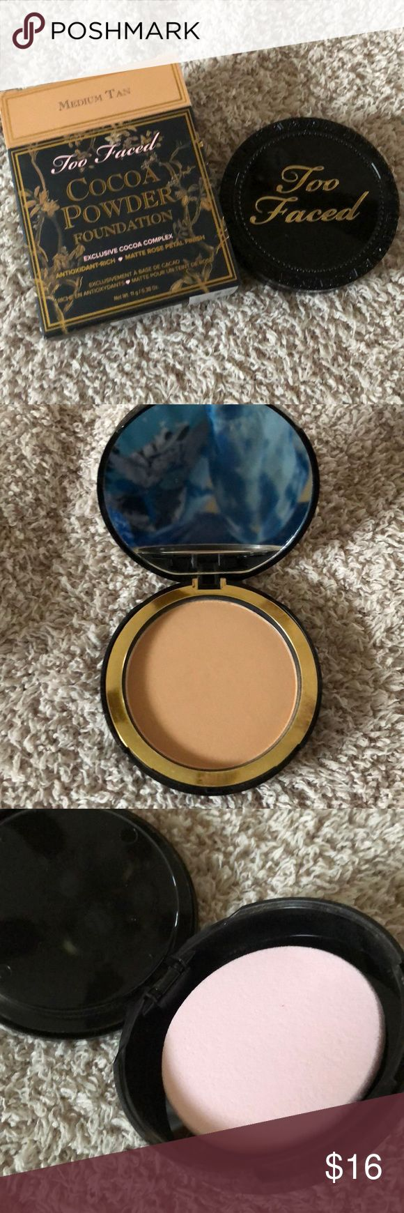 Too Faced Cocoa Powder Foundation Too Faced Cocoa Powder Foundation. Color is medium tan. Brand new. Too Faced Makeup Face Powder