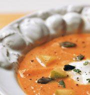 Zuppa di zucca con pezzi di mela: con le nostre pratiche ricette vegetariane, puoi mettere in tavola un pasto delizioso ed equilibrato in poco tempo. Provale!
