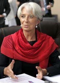 Christine Lagarde, ministre française de l'Economie, lors de la conférence des ministres des Finances européens à Nice, le 12septembre 2008.(Photo : Reuters)