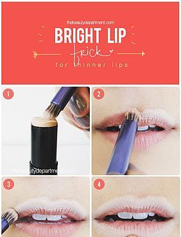 how to make lips look thinner