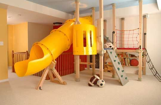 indoor playset - this would be so fun! This would be so awesome in the basement. snow days - rainy days, no problem!