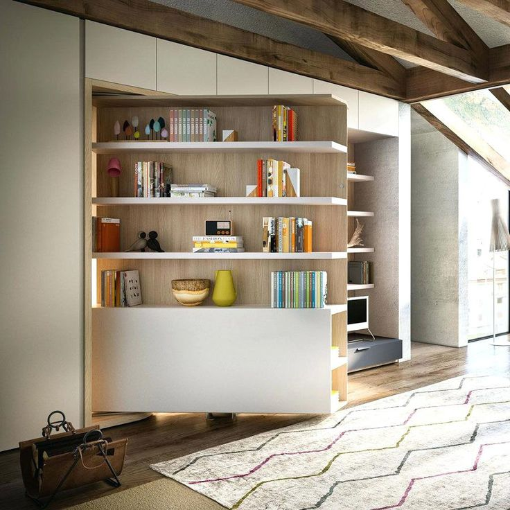 100+ Murphy Bed Bookcase Plans - Modern Rustic Furniture Check more at http://fiveinchfloppy.com/murphy-bed-bookcase-plans/