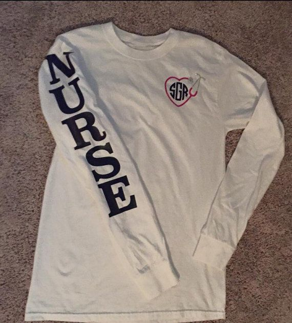 Hey, I found this really awesome Etsy listing at https://www.etsy.com/listing/253347091/nurse-monogram-tee