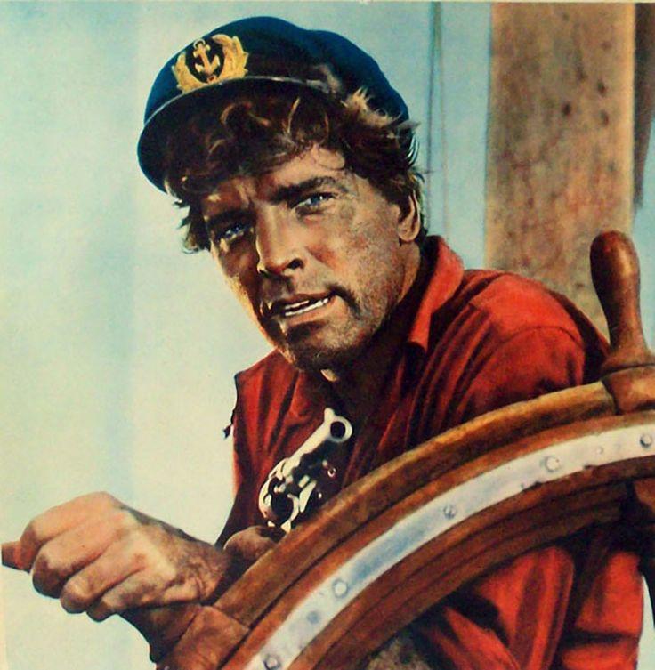 """Burt Lancaster en """"Su Majestad de los Mares del Sur"""" (His Majesty O'Keefe), 1954"""