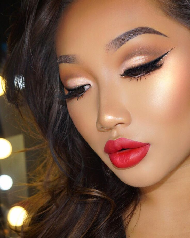 Different Makeups Of Kiss: 126 Best Red Lipstick Looks Images On Pinterest