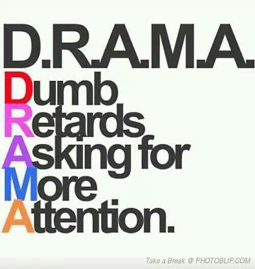 i am sick of all drama ppl atm...