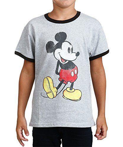 Mickey Mouse Boys Classic T Shirt (6/7 Grey) @ niftywarehouse.com #NiftyWarehouse #Disney #DisneyMovies #Animated #Film #DisneyFilms #DisneyCartoons #Kids #Cartoons
