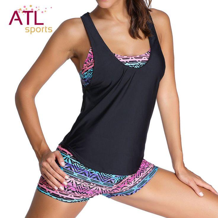 $7.97 (Buy here: https://alitems.com/g/1e8d114494ebda23ff8b16525dc3e8/?i=5&ulp=https%3A%2F%2Fwww.aliexpress.com%2Fitem%2F2016-Tribal-Printed-Tankini-With-Boyshort-Briefs-Bikini-Set-3-Pcs-Women-Swimwear-Summer-Beach-Wear%2F32693723461.html ) 3 Pieces Bikini 2016 Plus Size Swimwear Female Black Retro Swimsuit Women With Shorts Tankini Set Bathing Suit Beach Wear for just $7.97