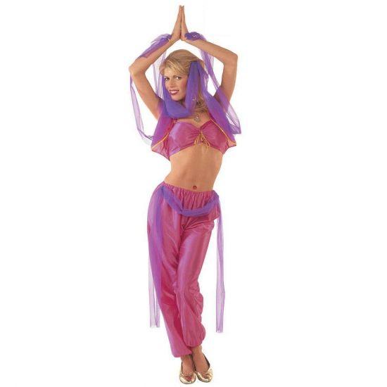 1001 nacht kleding buikdanseres  Buikdanseres kostuum volwassenen. Met dit buikdanseres kostuum ziet u eruit als een sexy harem danseres. Dit kostuum bestaat uit een broek en een top en een stuk stof voor om de heupen en het hoofddeel.  EUR 34.99  Meer informatie