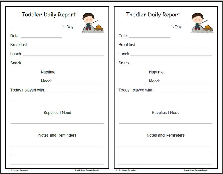 12 best Infant, Toddler \ Preschool Daily Report Templates images - progress reports templates