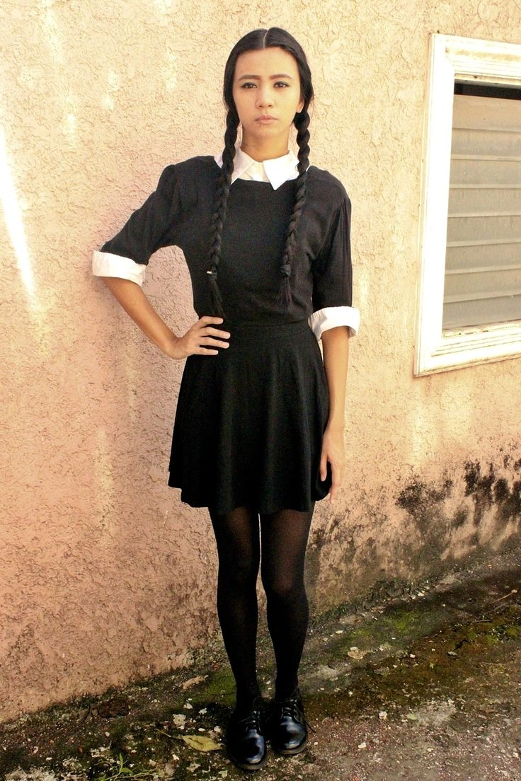 Results 181 240 of 644 for indoor halloween decorations - Diy Wednesday Addams Halloween Costume