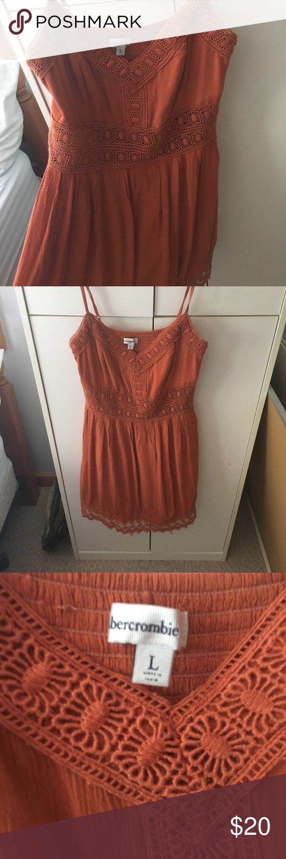 Selling this Orange Summer Dress - Abercrombie and Fitch on Poshmark! My username is: fashiongill. #shopmycloset #poshmark #fashion #shopping #style #forsale #Abercrombie & Fitch #Dresses & Skirts
