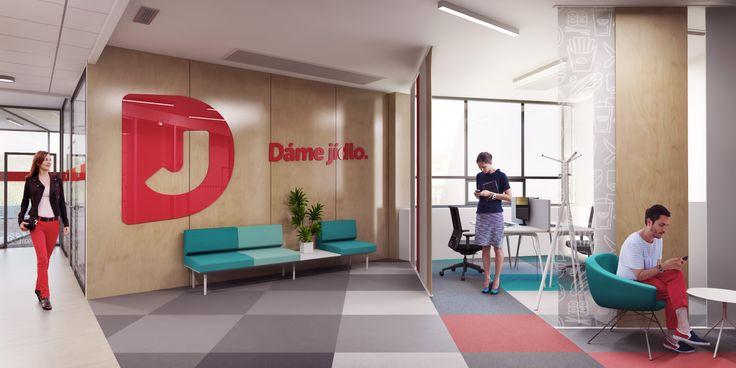 Řekli jsme si Dáme to! A výsledkem jsou nové kanceláře pro Dáme jídlo. Mrkněte, jak to vypadá v zázemí firmy, kde je hlavním tématem 🍔 🍣 🍖.  #interiordesigns #officeinterior #workspace #workplace   #office