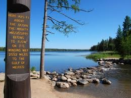Minnesota:  Lake Itasca State Park - The official headwaters of the Mississippi River