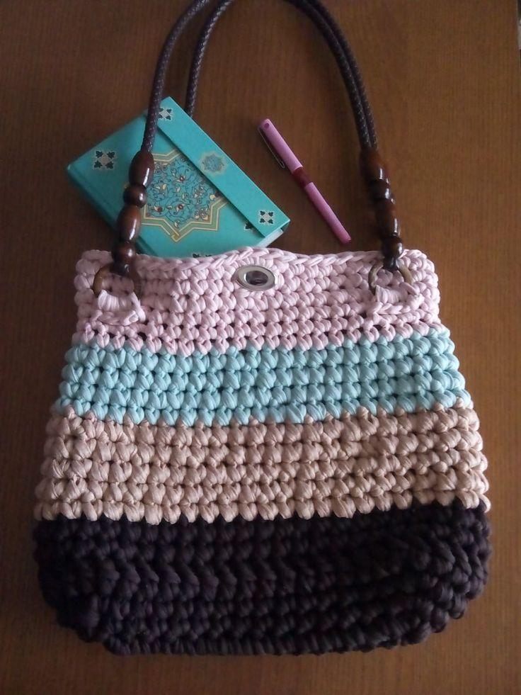 Video tutorial para hacer un bolso de trapillo :)  #trapillo #diy #handmade