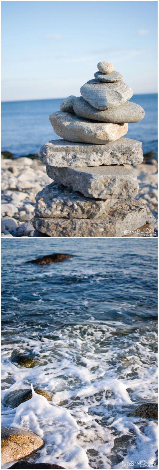 Cairn, a found rock sculpture - Narragansett, Rhode Island      #VisitRhodeIsland