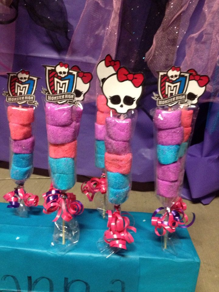 Monster High Party Marshmallow Favors by FantastikCreations, $1.50