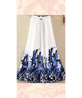 Remarkable White And Black Georgette Skirt.