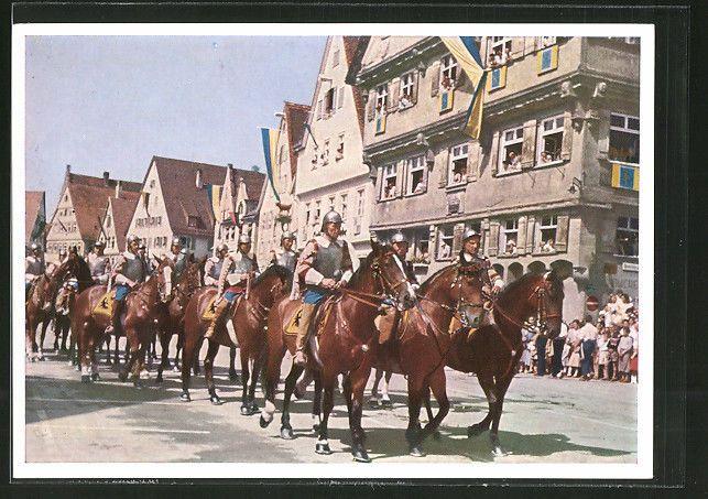 schöne AK Biberach, Schützenfest, Kaiserliche Reiter mit Haus Kleeblatt
