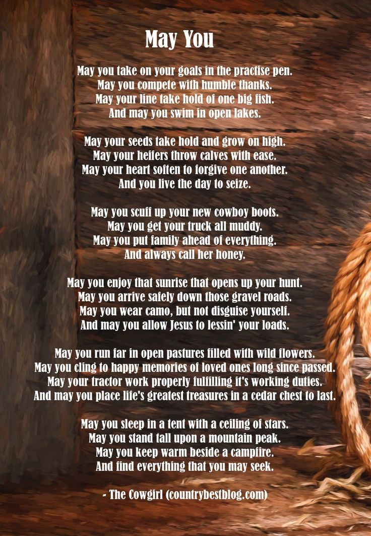Quot May You Quot Cowboy Poetry Countrybestblog Com Pin Cowboy