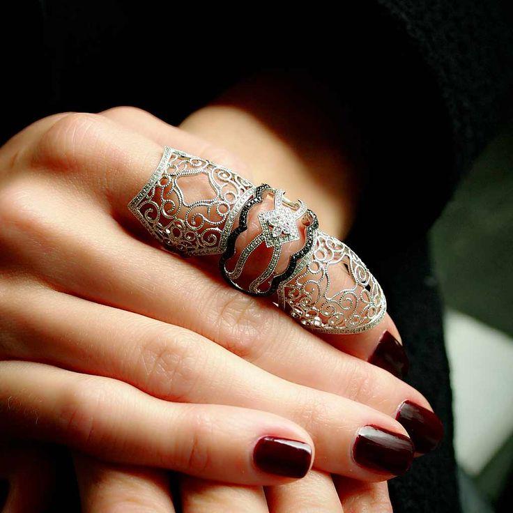 1000 Ideas About Full Finger Rings On Pinterest Big