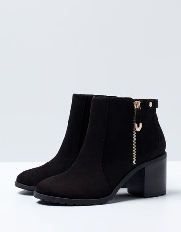 Bershka Russian Federation -BSK zipper detail heeled ankle boots