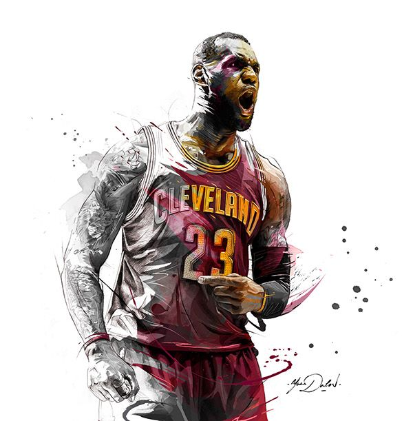 My illustration of Lebron James ,Cleveland Cavaliers.