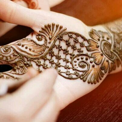 Henna netting with elements