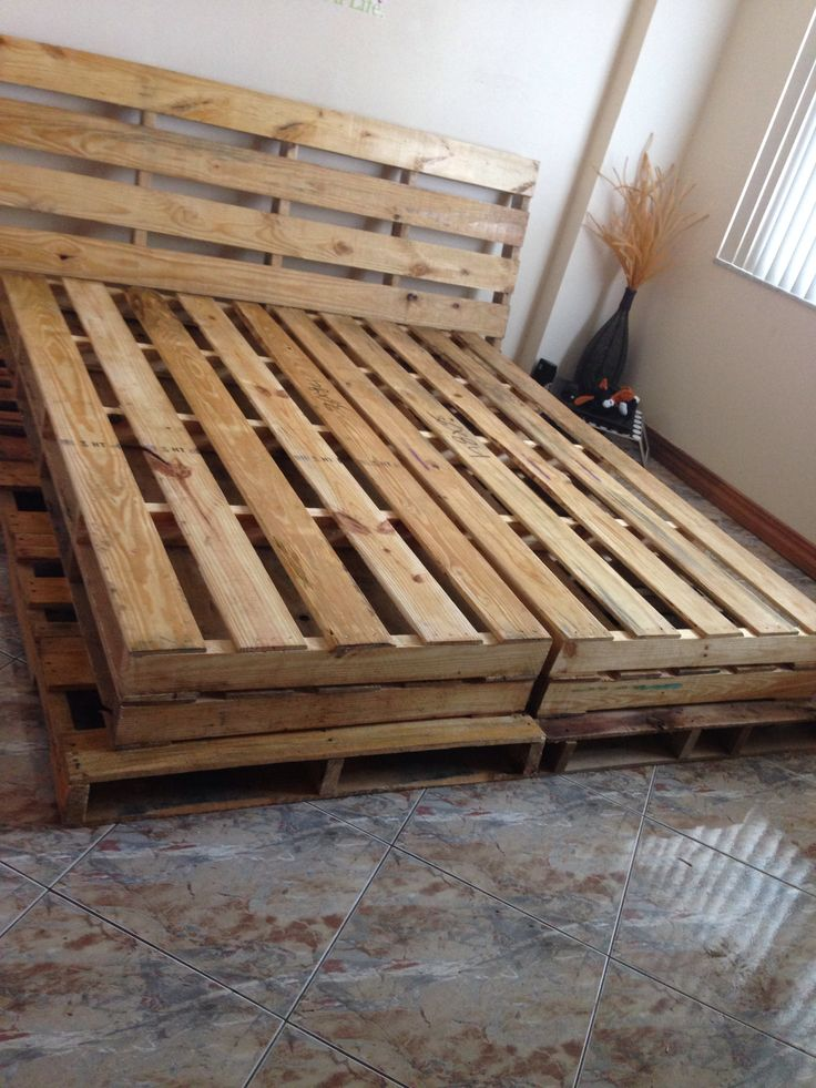 Wood Pallets Bed From Ecoaromas