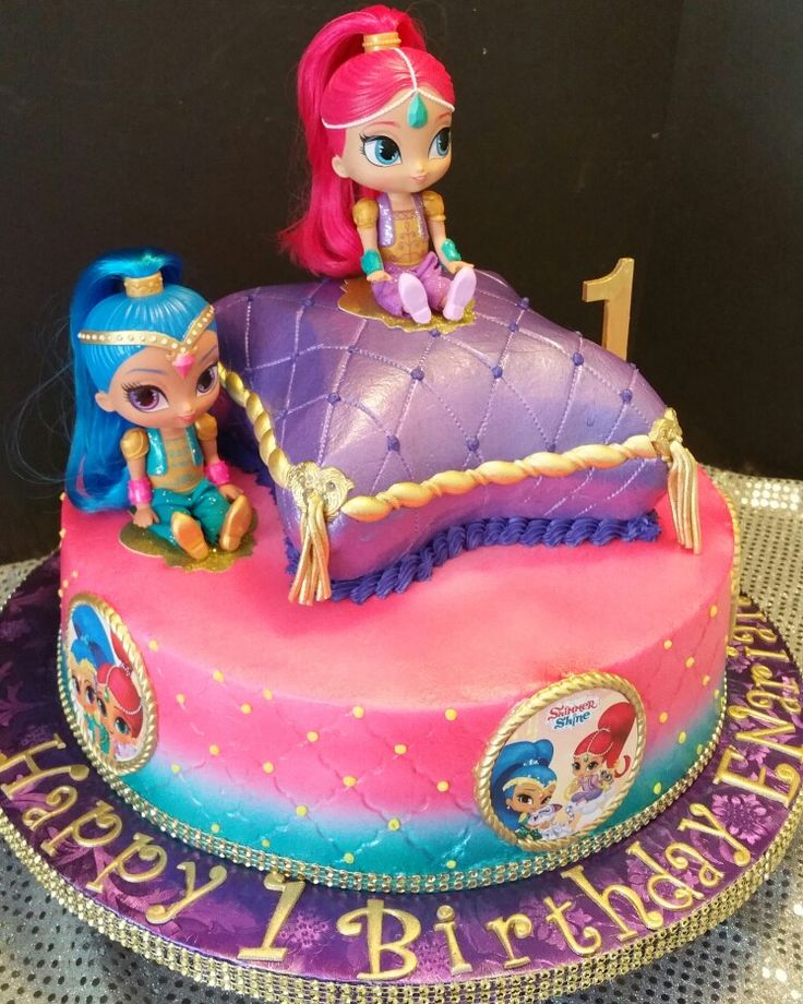 Shimmer and Shine pilow cake.
