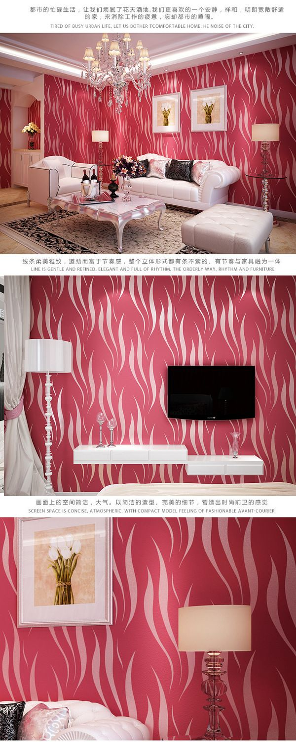 3D non woven wallpaper flocking thick living room bedroom wallpaper background wallpaper-in Wallpapers from Home & Garden on Aliexpress.com | Alibaba Group