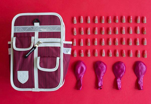 goodorering mochila original y vintage para niños color fucsia