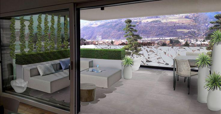 Terrazzo moderno e raffinato