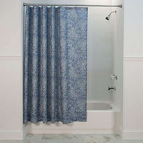Floating Leaves Shower Curtain In Blue