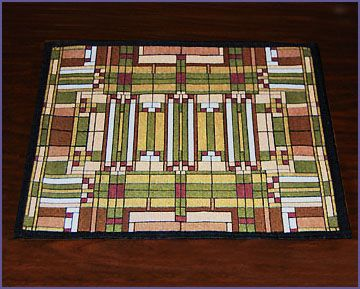 Frank Lloyd Wright Oak Park Skylight Tapestry Placemat And