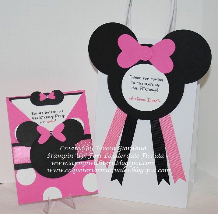 Esta bella bolsita decorada con el tema de Minnie Mouse, será el ...