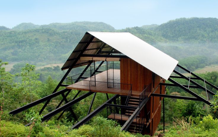 mainprjkt:  architecture _ Narein Perera _ Estate Bungalow in Sri Lanka  Inspired by traditonal temporary Chena watch huts used for slash-and-burn agriculture in rural Sri Lanka