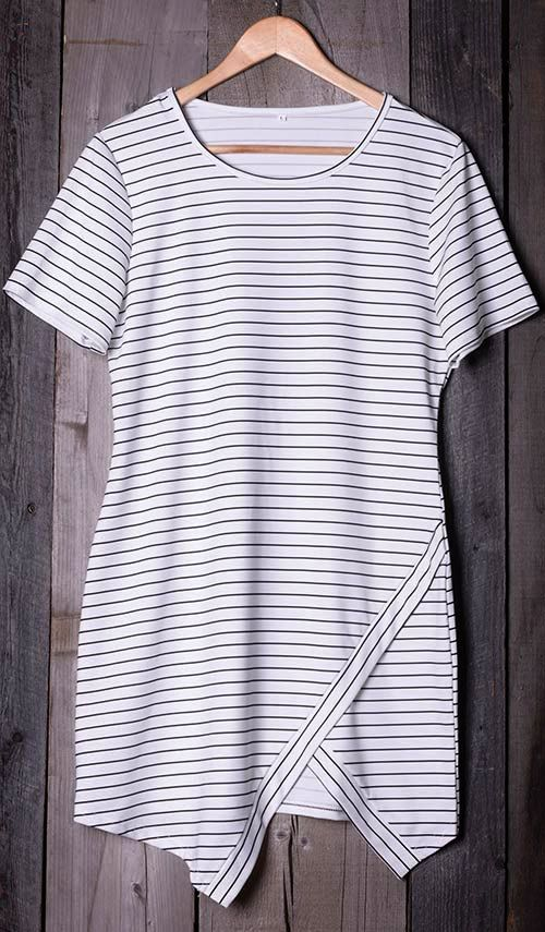 We love a little friendly competition. You need it,$18.99. Simple, sleek and incredibly comfy, Cut to Stripe Printing Slit Dress is an effortless way to make you feel ultra feminine. More surprise at Cupshe.com !