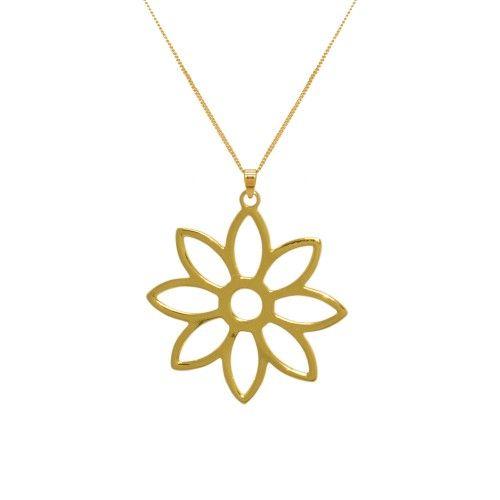 Namaqua Daisy Flower Necklace • Yellow Gold