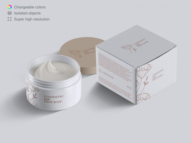Download Realistic Isometric Opened Plastic Cosmetic Face Cream Jar And Cream Box Mockup Template Box Mockup Flyer Design Templates Mockup Template